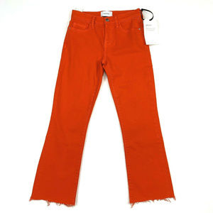 Current Elliott The Kick Jean 24 Fiery Red Cut Hem